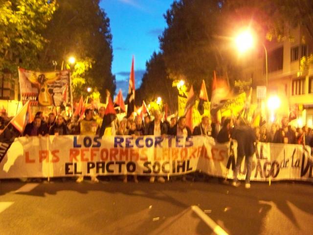 MANIFESTACION DEL 14 DE NOVIEMBRE DE 2012